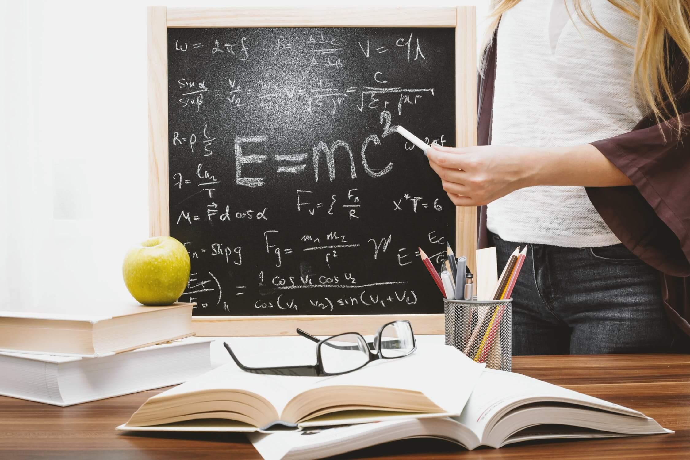 Math teacher desk